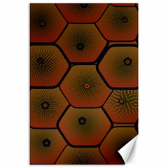 Psychedelic Pattern Canvas 24  x 36