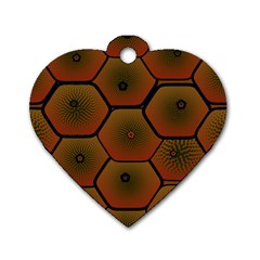 Psychedelic Pattern Dog Tag Heart (One Side)