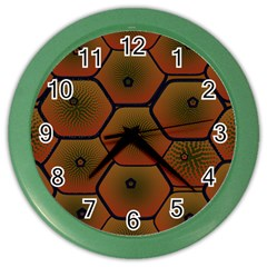 Psychedelic Pattern Color Wall Clocks