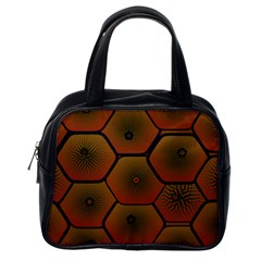 Psychedelic Pattern Classic Handbags (One Side)