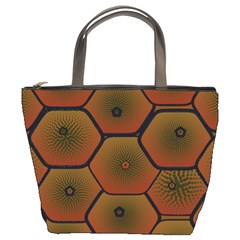 Psychedelic Pattern Bucket Bags