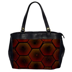 Psychedelic Pattern Office Handbags