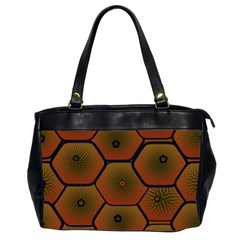Psychedelic Pattern Office Handbags (2 Sides)