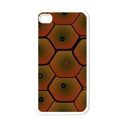 Psychedelic Pattern Apple iPhone 4 Case (White)