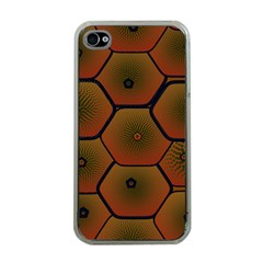 Psychedelic Pattern Apple iPhone 4 Case (Clear)