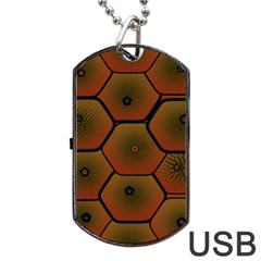 Psychedelic Pattern Dog Tag USB Flash (One Side)