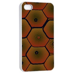 Psychedelic Pattern Apple iPhone 4/4s Seamless Case (White)