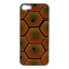Psychedelic Pattern Apple iPhone 5 Case (Silver)