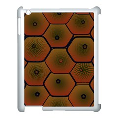 Psychedelic Pattern Apple iPad 3/4 Case (White)