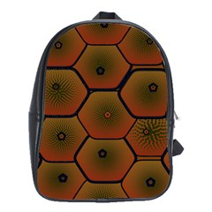 Psychedelic Pattern School Bags (XL)