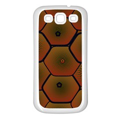 Psychedelic Pattern Samsung Galaxy S3 Back Case (White)