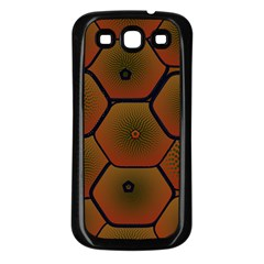 Psychedelic Pattern Samsung Galaxy S3 Back Case (Black)