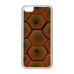 Psychedelic Pattern Apple iPhone 5C Seamless Case (White)