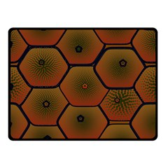 Psychedelic Pattern Double Sided Fleece Blanket (Small)