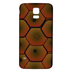 Psychedelic Pattern Samsung Galaxy S5 Back Case (White)