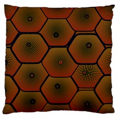 Psychedelic Pattern Large Flano Cushion Case (One Side)