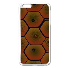 Psychedelic Pattern Apple iPhone 6 Plus/6S Plus Enamel White Case