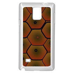 Psychedelic Pattern Samsung Galaxy Note 4 Case (White)