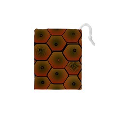 Psychedelic Pattern Drawstring Pouches (XS)