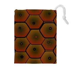 Psychedelic Pattern Drawstring Pouches (Extra Large)