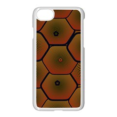 Psychedelic Pattern Apple iPhone 7 Seamless Case (White)