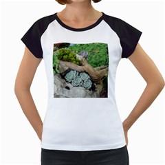 Plant Succulent Plants Flower Wood Women s Cap Sleeve T