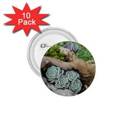 Plant Succulent Plants Flower Wood 1.75  Buttons (10 pack)