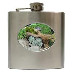Plant Succulent Plants Flower Wood Hip Flask (6 oz)