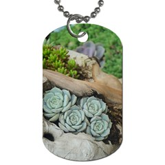 Plant Succulent Plants Flower Wood Dog Tag (Two Sides)