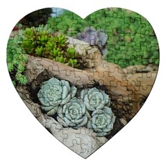 Plant Succulent Plants Flower Wood Jigsaw Puzzle (Heart)
