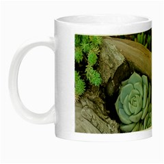 Plant Succulent Plants Flower Wood Night Luminous Mugs