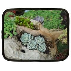 Plant Succulent Plants Flower Wood Netbook Case (Large)