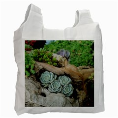Plant Succulent Plants Flower Wood Recycle Bag (One Side)