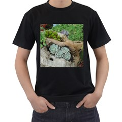 Plant Succulent Plants Flower Wood Men s T-Shirt (Black)