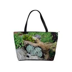 Plant Succulent Plants Flower Wood Shoulder Handbags