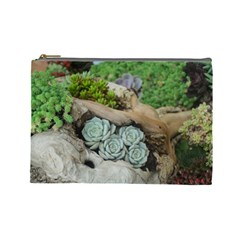 Plant Succulent Plants Flower Wood Cosmetic Bag (Large)