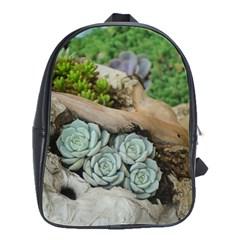 Plant Succulent Plants Flower Wood School Bags(Large)