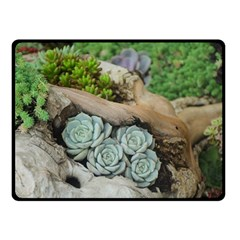 Plant Succulent Plants Flower Wood Fleece Blanket (Small)