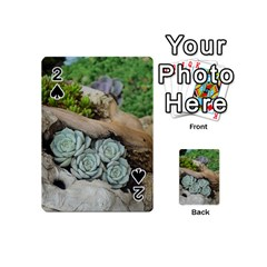 Plant Succulent Plants Flower Wood Playing Cards 54 (Mini)