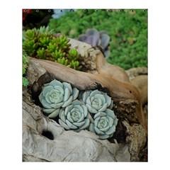 Plant Succulent Plants Flower Wood Shower Curtain 60  x 72  (Medium)