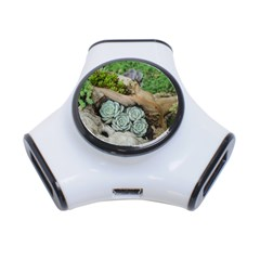 Plant Succulent Plants Flower Wood 3-Port USB Hub