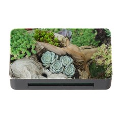 Plant Succulent Plants Flower Wood Memory Card Reader with CF
