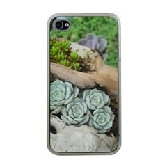Plant Succulent Plants Flower Wood Apple iPhone 4 Case (Clear)