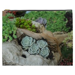 Plant Succulent Plants Flower Wood Cosmetic Bag (XXXL)
