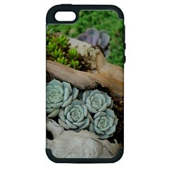 Plant Succulent Plants Flower Wood Apple iPhone 5 Hardshell Case (PC+Silicone)
