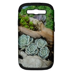 Plant Succulent Plants Flower Wood Samsung Galaxy S III Hardshell Case (PC+Silicone)