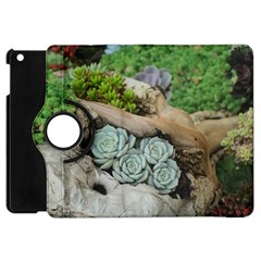 Plant Succulent Plants Flower Wood Apple iPad Mini Flip 360 Case