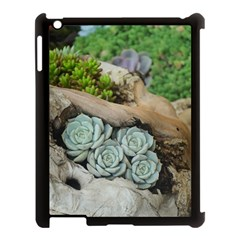 Plant Succulent Plants Flower Wood Apple iPad 3/4 Case (Black)