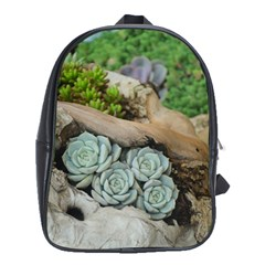 Plant Succulent Plants Flower Wood School Bags (XL)
