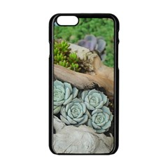 Plant Succulent Plants Flower Wood Apple iPhone 6/6S Black Enamel Case